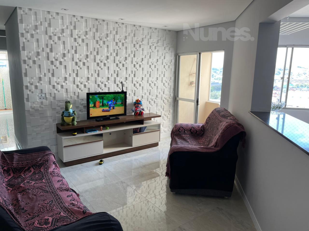 Apartamento andar alto no bairro V. Arens, em Jundiaí, com 2 dormitórios e sacada